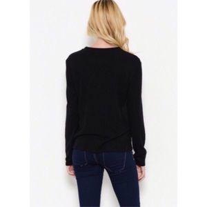 Sweaters - Black Zipper Detail Sweater